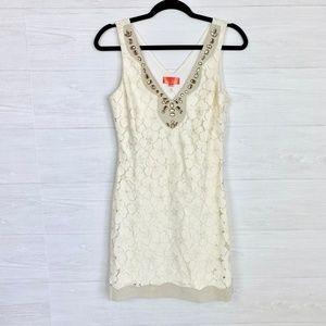 Hale Bob Cabana Cream Lace Dress Size XS